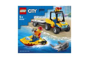 Конструктор для детей от 5лет №60286 Вездеход пляжных спасателей City Lego 1шт
