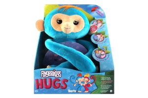 Игрушка мягкая интерактивная обезьянка-обнимашка Борис Fingerlings WowWee 1шт