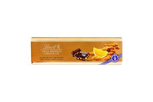 Шоколад темний швейцарський з апельсином і мигдалем Lindt м/у 300г