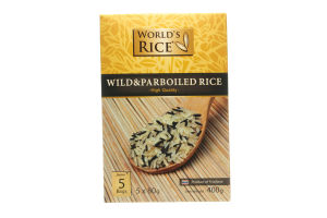 Смесь риса в пакетиках Дикий+Парболид World's Rice к/у 5х80г