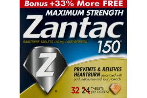Zantac 150 Acid Reducer Maximum Strength - 32 CT