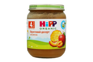 Пюре для детей от 4-х мес Фруктовый десерт Hipp с/б 125г