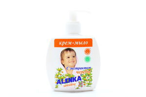 Крем-мыло для рук с экстрактом череды Sensіtive Alenka 200г