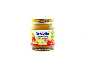 Пюре для детей от 5мес Яблоко и груша Bebivita с/б 100г