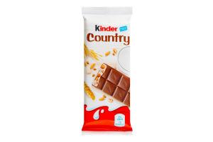 Шоколад молочний з молочно-злаковою начинкою Country Kinder м/у 23.5г