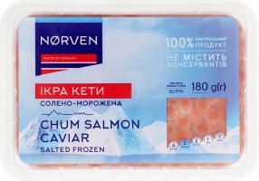 Ікра кети солоно-морожена Norven п/у 180г