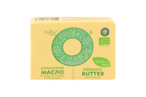 Масло 74.5% солодковершкове Селянське Organic Milk м/у 200г