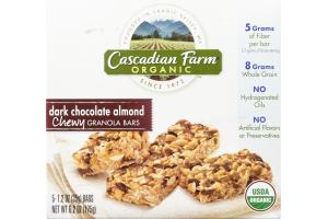 Cascadian Farm Organic Dark Chocolate Almond Chewy Granola Bars - 5 CT