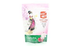 Чай зеленый крупнолистовой с кусочками вишни Сакура Небесная Пагода м/у 80г