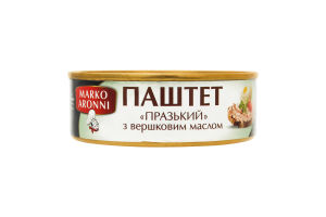 Паштет со сливочным маслом Пражский Marco Aronni ж/б 240г