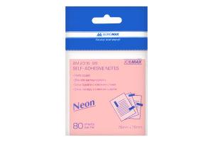 Блок для нотаток асорті BM.2316-98 Buromax Neon 76х76мм 80аркушів