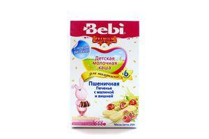Каша Bebi д/полдника с/м пшеничная печенье с малиной и вишней 200г