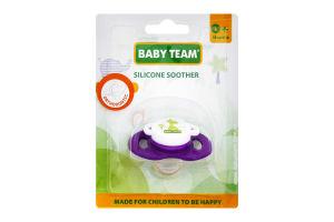 Пустышка силиконовая Baby Team классическая, 1 шт.