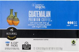 Simply Enjoy Guatemalan Premium Coffee Medium Roast K-Cup Packs - 12 CT