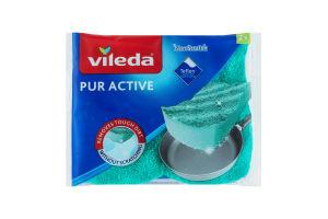 Губка кухонная для тефлона Pur Active Vileda 2шт