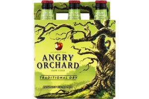 Angry Orchard Hard Cider Taditional Dry - 6 PK