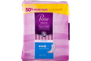 Poise Pads Moderate Absorbency Long Length - 84 CT