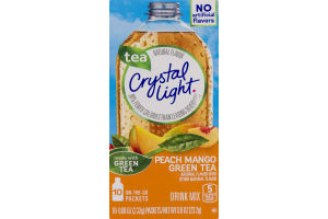 Crystal Light Drink Mix Peach Mango Green Tea - 10 CT