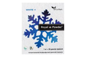 Порошок пральний концентрований безфосфатний White+ Royal Powder 1кг