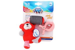 Игрушка для детей от 0мес плюшевая с колокольчиком Canpol babies 1шт