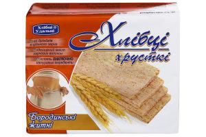 Хлебцы бородинские ржаные Хлібці-Удальці м/у 100г