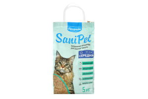 Наполнитель для туалета средний SaniPet Природа 5кг
