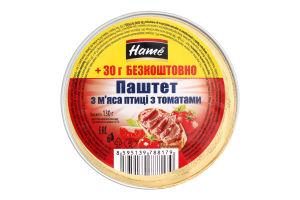 Паштет с мяса птицы с томатами Hame лоток 130г