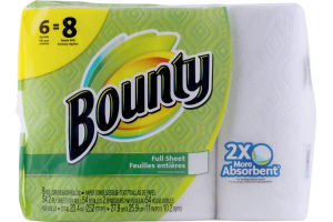Bounty Paper Towels Big Rolls - 6 CT