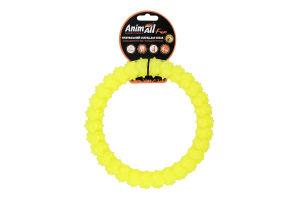 Снаряд тренувальний для собак 20см жовтий №88156 Кільце з шипами Fun AnimAll 1шт