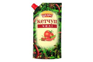Кетчуп пастеризованный Чили Щедро д/п 250г