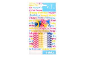 Н-р Свечи для торта Bolsius разноцветные 24шт