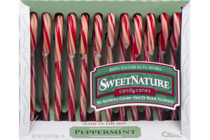 Sweet Nature Candy Canes Peppermint - 12 CT