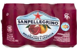 Sanpellegrino Sparkling Juice Beverage Pomegranate & Orange - 6 CT
