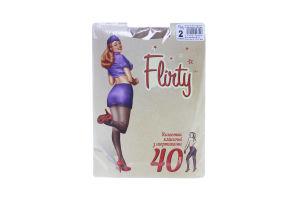 Колготки женские классические з шортиками Flirty 40den 2 бежевые