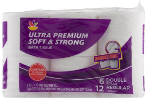 Ahold Ultra Premium Soft & Strong Bath Tissue Double Rolls - 6 CT
