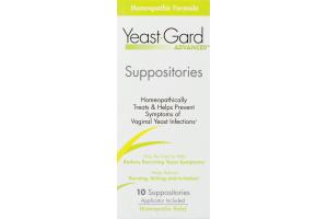 Yeast-Gard Advanced Suppositories - 10 CT