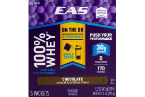 EAS Advant Edge 100% Whey Protein Powder Packets Chocolate - 5 CT