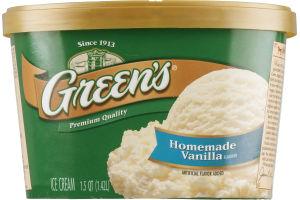 Green's Premium Ice Cream Homemade Vanilla