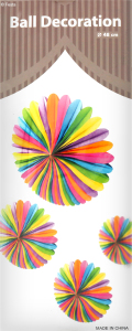 Цветок бумажный 48см Корд Паті Фавоур Мануфакторі 1шт