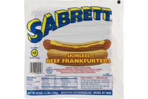 Sabrett Skinless Beef Frankfurters - 24 CT
