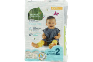 Seventh Generation Free & Clear Diapers Size 2 - 36 CT