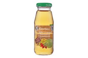 Сік яблучно-виноградний із шипшиною без цукру Gerber с/пл 175мл