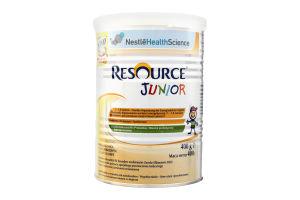 Смесь сухая для детей 1-10 лет Junior Resource Nestle ж/б 400г