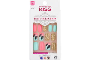 Kiss The Collection Nails Medium Length - 24 CT