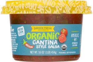 Garden Fresh Gourmet Organic Salsa Cantina Style Medium
