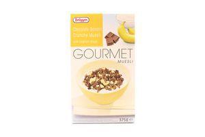 Мюсли шоколадно-банановые с йогуртом Gourmet Brüggen к/у 375г