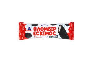 Морозиво пломбір в чорному печиві Ескімос Рудь м/у 75г