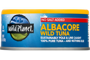 Wild Planet Albacore Wild Tuna No Salt Added
