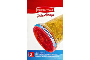 Rubbermaid Take Alongs Twist & Seal Liquid Storage - 2 CT