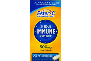 Ester-C 24 Hour Immune Support 500 mg Tablets - 90 CT